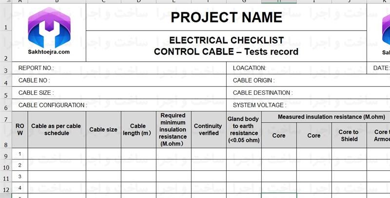 بازرسی کابل برق در پروژه