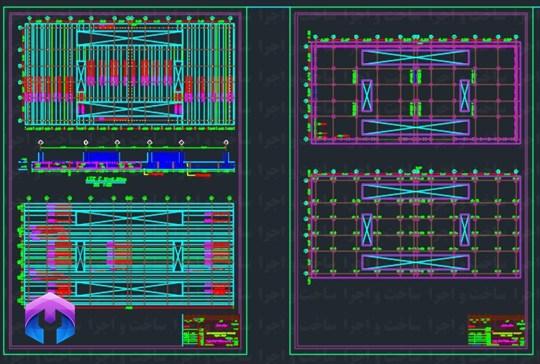 نقشه سازه ای 9 طبقه بتنی