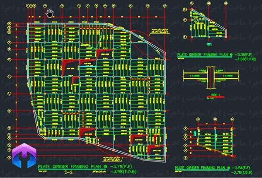 نقشه سازه 10 طبقه فولادی