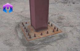 اتصال مستقیم ستون به کف ستون
