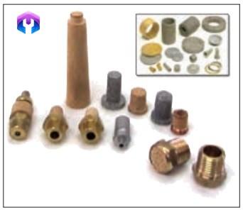 تعدادی صافی فلزی که به روش متالورژی پودر