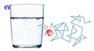 حرکت نامنظم یک مولکول آب