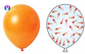 حرکت نامنظم ذرات گاز در بادکنک