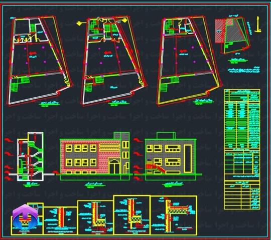نقشه سازه ای حسینیه