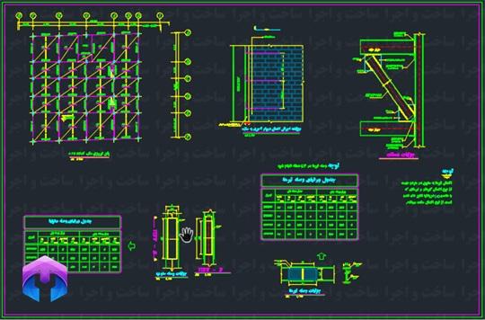 جزییات اجرایی سازه فولادی کوچک